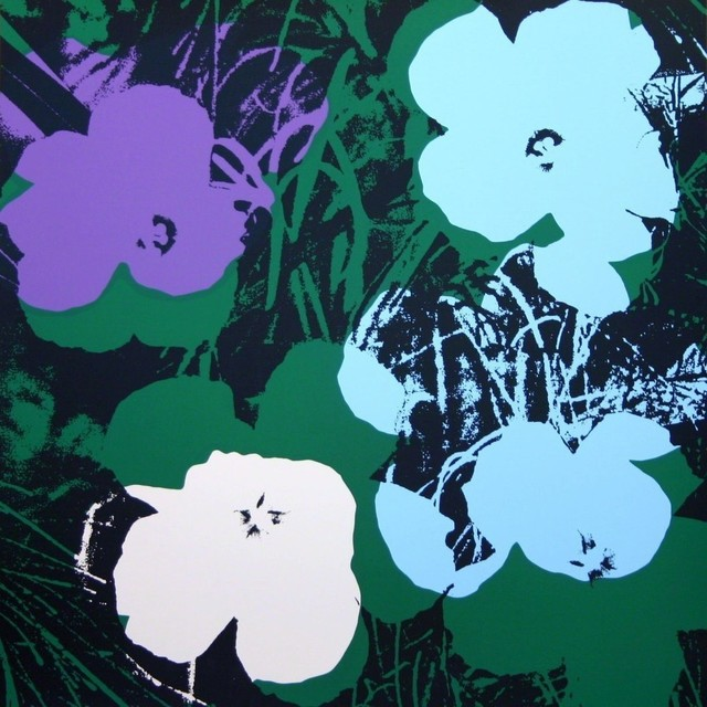 Andy Warhol, 'Flowers Black Blue - Sunday B. Morning (After)', 1970-1980, ARTEDIO