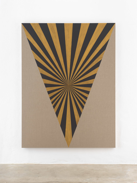 , 'Muff, Black, Gold, Center, Beam,' 2018, KEWENIG
