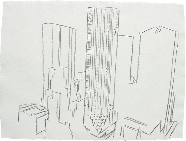Andy Warhol, 'Trump Tower', 1981, Drawing, Collage or other Work on Paper, Graphite on paper, Phillips
