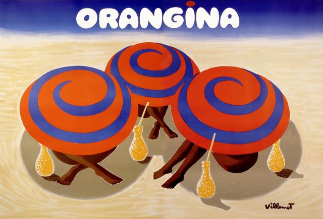 , 'ORANGINA - 3 Umbrellas on the Beach,' 1984, Galleria Alfieri