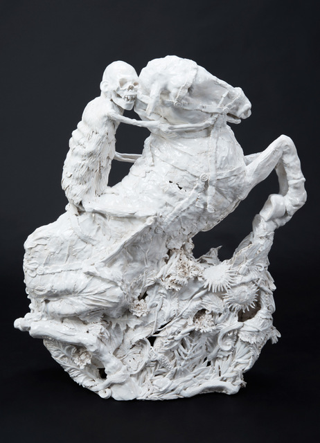 , 'White Rider of the Apocalypse,' 2017, James Freeman Gallery