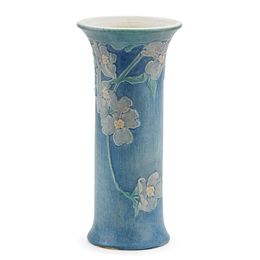 Newcomb College, Tall Flaring Vase With Dogwood Blossoms, New Orleans, LA