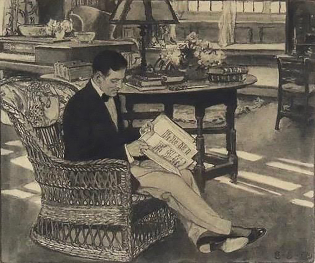Elizabeth Shippen Green, 'In the Parlor with a Book', 1909, The Illustrated Gallery