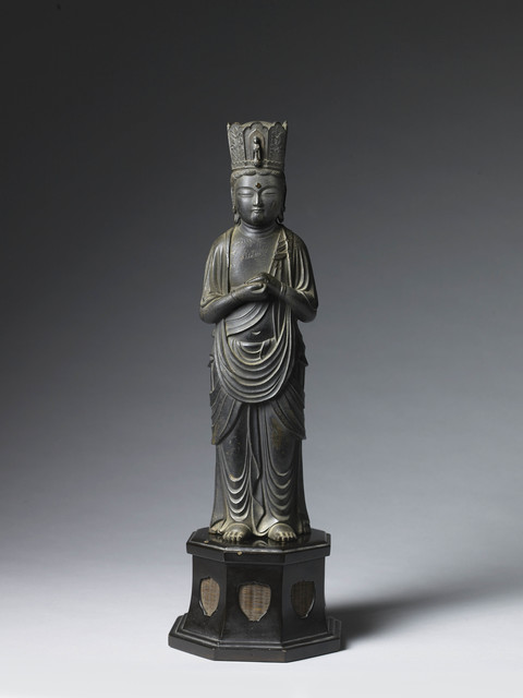 , 'Kannon Bosatsu (Bodhisattva) in the Zenkoji-style,' Japan 13th/14th century Kamakura period, Gregg Baker Asian Art