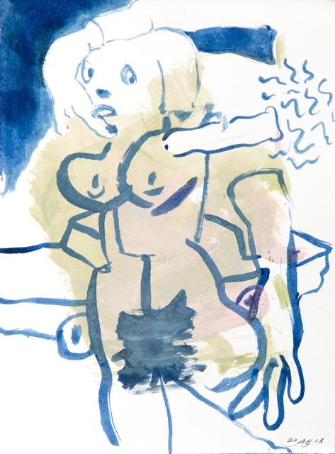 , 'Vertical Mini Drama III:k,' 2013, Moskowitz Bayse