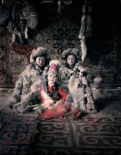Jimmy Nelson, 'VI 27 Bakbergen, Samil & Kamilla Altantsogts, Bayan Olgii, Mongolia', 2011, Bryce Wolkowitz Gallery