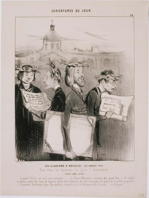 Honoré Daumier, 'Caricatures du Jour: Les Illusions D'Artistes', 1842, Phillips Collection