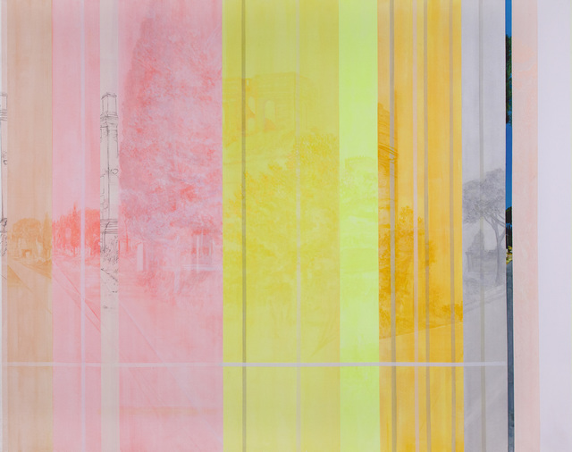Daniele Genadry, 'The Construction of Via Appia', 2014, Painting, Oil and acrylic on canvas, Taymour Grahne Projects