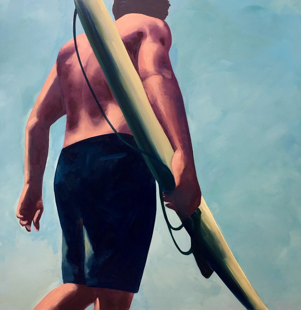 TS Harris, 'Surfer', 2018, Painting, Oil on canvas, Quidley & Company