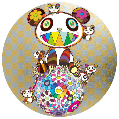 Takashi Murakami, 'PANDA AND PANDA CUBS AND FLOWER BALL', 2019, Print, 4c offset + cold stamp, Dope! Gallery