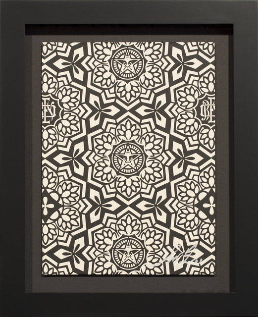 Shepard Fairey, 'YEN PATTERN (BLACK)', 2007, Rudolf Budja Gallery