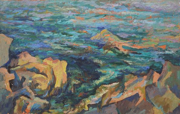 , 'Rocky shore,' ca. 1968, Robert Eagle Fine Art
