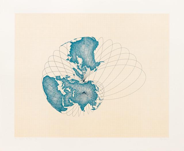 Agnes Denes, 'Map Projection: The Snail', 1978, Pace Prints
