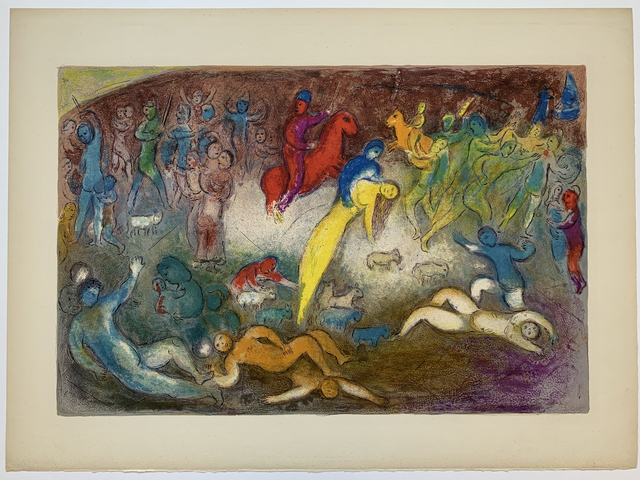 Marc Chagall, ' Chloé is carried off by the Methymnaens', 1961, Galerie Fetzer