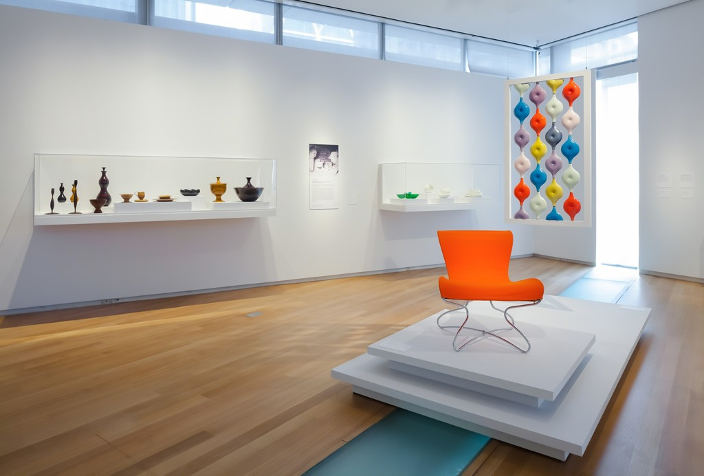 Installation view of 'Pathmakers: Women in Art, Craft and Design, Midcentury and Today,' 2015. Photo by Butcher Walsh. Courtesy of the Museum of Arts and Design.