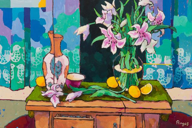 , 'Stargazers with Lemons on Green,' 2019, Ventana Fine Art