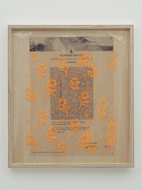, 'Collaboration Study (Fontana Hisachika Painting - Orange) ,' 2019, MISAKO & ROSEN