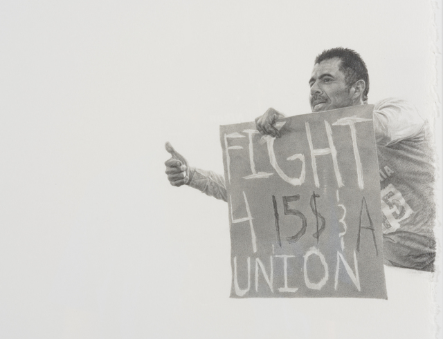 , 'Fight 4 $15 & a Union (Fight for $15 protest, Dec. 2013),' 2016, Wilding Cran Gallery