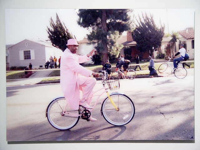 , 'Pink Suit Bike,' 2015, LA Artcore