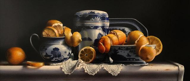 , 'Lemons with Canton China,' 2018, William Baczek Fine Arts