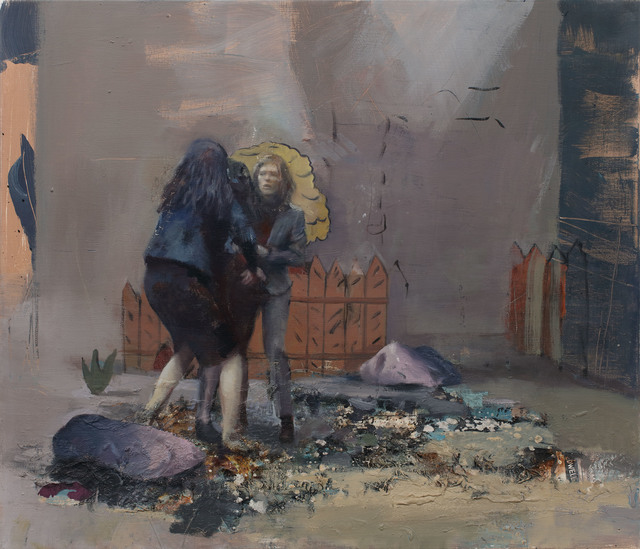 Daniel Pitin, 'Fighters', 2018, Painting, Mixed media on canvas, Charim Galerie