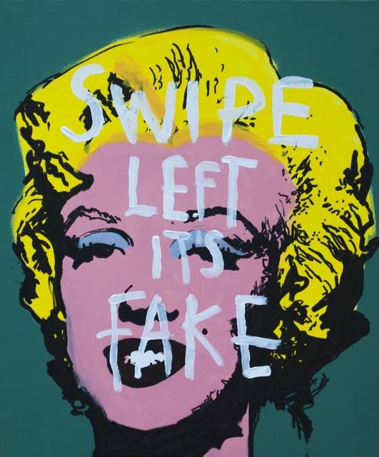 , 'Swipe It's Marylin,' 2018, One Arts Club