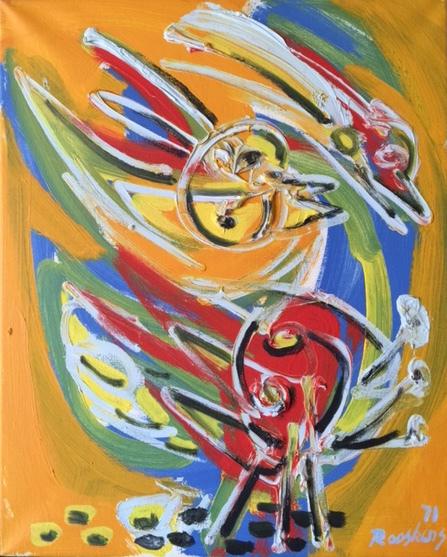 Anton Rooskens, 'Figuur met vogels', 1971, Okker Art Gallery