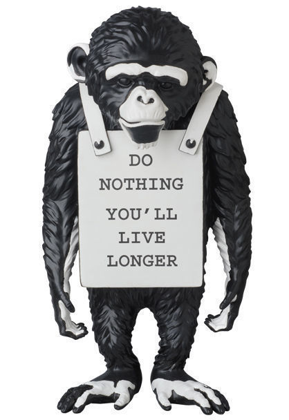 Banksy, 'Monkey Sign Black', 2016, Dope! Gallery