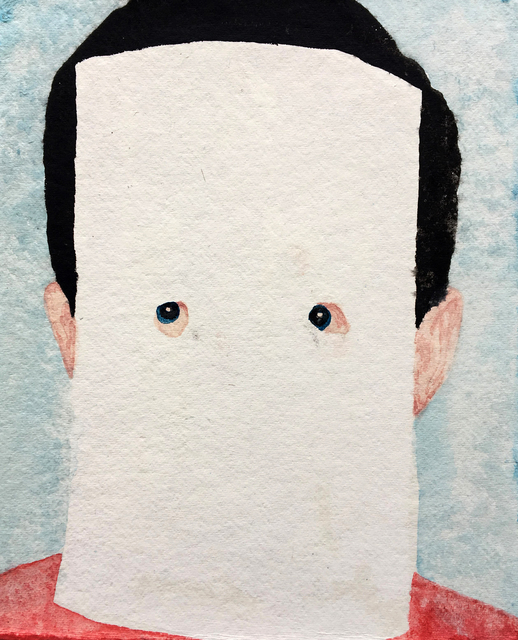 """James Rielly, '""""Hi there""""', 2016, Painting, Watercolor on paper, 3 Punts Galeria"""