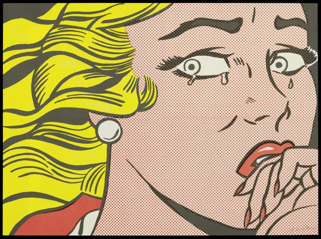 Roy Lichtenstein, 'Crying Girl', 1963, Print, Colour offset, invitation card, Koller Auctions