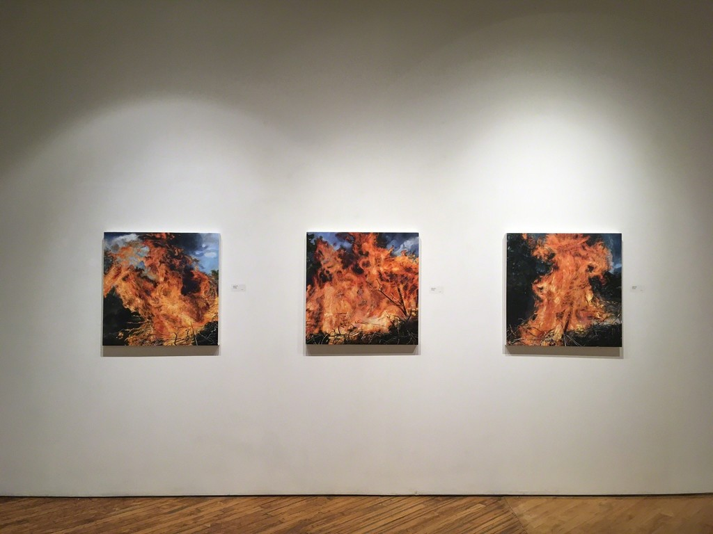 Left to right: 'Blaze', 'Conflagration', 'Brush Fire'
