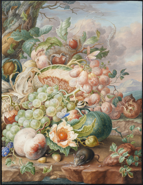 , 'Still life with fruit and a mouse,' ca. 1700-1710, Mireille Mosler Ltd.