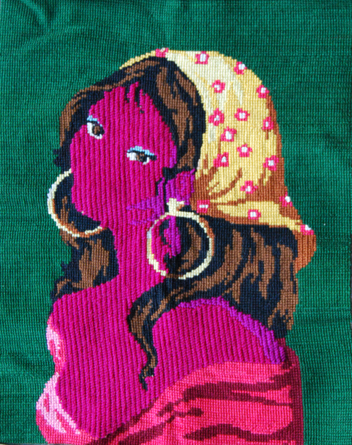 Matt Smith, 'Gitane', 2021, Textile Arts, Reworked textile with wool, Cynthia Corbett Gallery