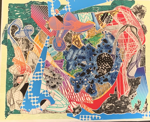 Frank Stella, 'Swoonarie', 1995, Print, Etching, aquatint, relief, screenprint, lithograph, woodcut on white TGL handmade paper, Anders Wahlstedt Fine Art