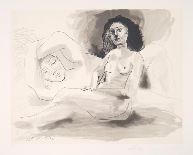 Pablo Picasso, 'Homme Couchée et Femme Assise, 1942', 1979-1982, RoGallery