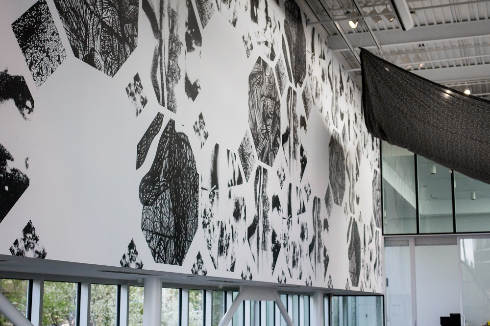 """Installation view of Sam Vernon, """"How Ghosts Sleep: Seattle"""" (2015). Courtesy of Seattle Art Museum."""