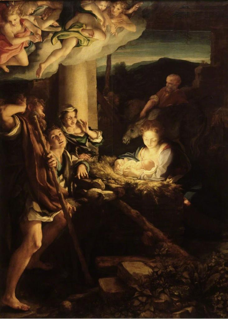Correggio, 'Nativity,' 1522/30, Gemäldegalerie Alte Meister