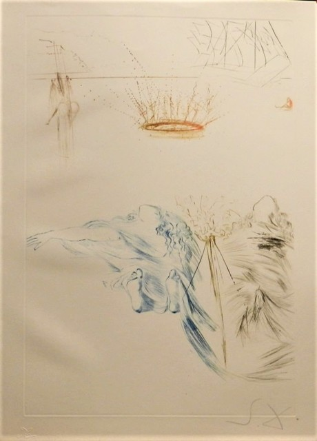 Salvador Dalí, 'Tristan and Iseult : Tristan's Testament', 1970, Print, Etching on paper, Samhart Gallery