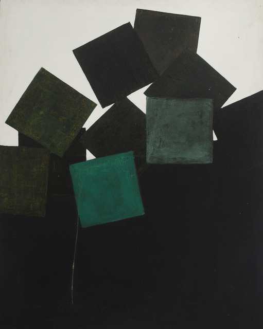 , 'Green Square on black and white ,' 1963, Waterhouse & Dodd