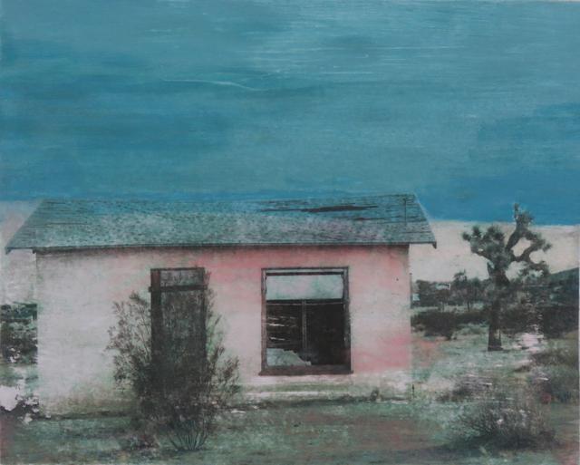 , 'Golden Pink Cabin,' 2018, Joshua Tree Art Gallery