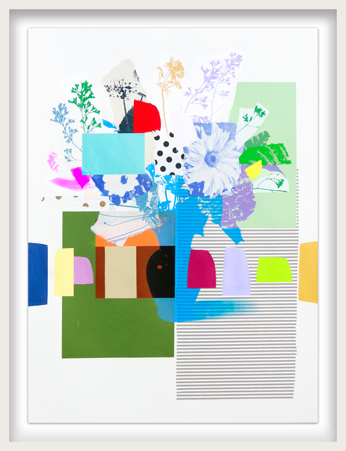Emily Filler, 'Paper Bouquet (blue + brown + black vase)', 2021, Drawing, Collage or other Work on Paper, Mixed Media on Paper, Newzones