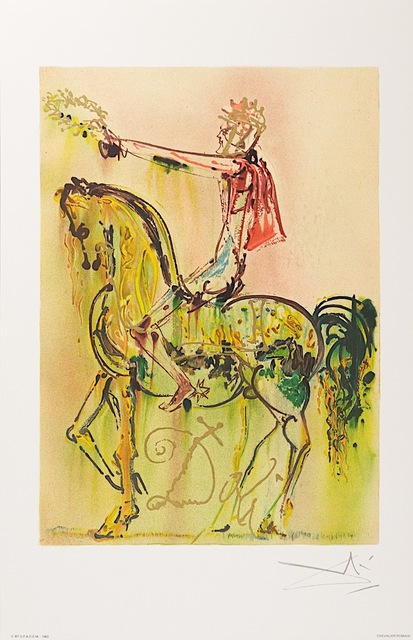 Salvador Dalí, 'Chevalier Romain (The Roman Cavalier)', 1983, Print, Lithograph on Vélin d'Arches Paper, Art Lithographies