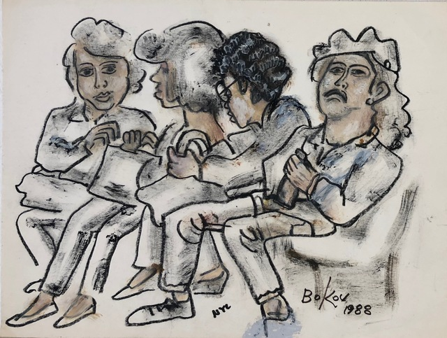 , 'Waiting,' 1988, Van Der Plas Gallery