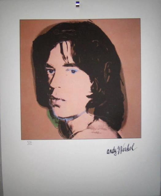 Andy Warhol, 'Portrait, Mick Jagger, green 1969', ca. 1969, Mixed Media, Lithograph, Lyons Gallery