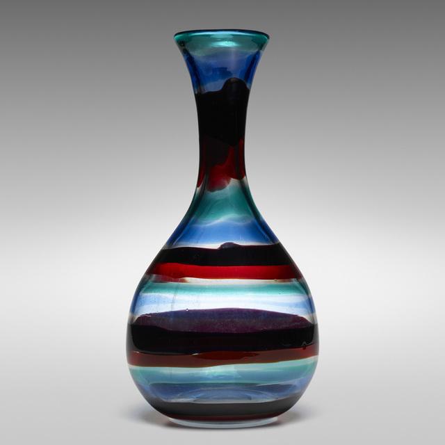 Fulvio Bianconi, 'Monumental Fasce Orizzontale vase, model 1522', c. 1953, Wright