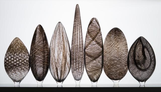 TOBIAS MØHL, '7 PART BLACK TWILL COLLECTION', 2015, Design/Decorative Art, Glass/wood/lighting fixture, Heller Gallery
