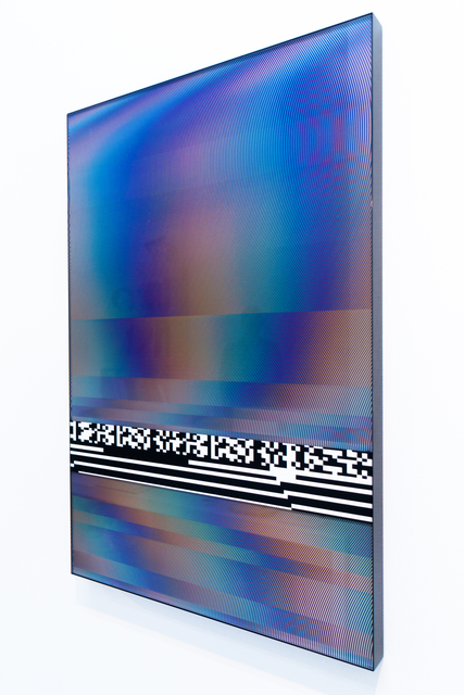 Felipe Pantone, 'Planned Iridescence 1', 2017, Mixed Media, UV Ink and Enamel on Carved Plexiglass and Aluminum, GR Gallery