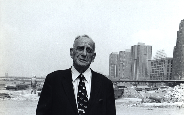 , 'Robert Moses at Battery Park site,' February 20-1973, Steven Kasher Gallery