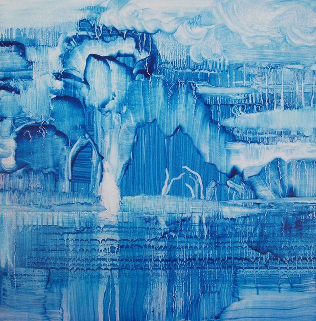, 'Prussian Blue Landscape,' 2017, Dominik Mersch Gallery