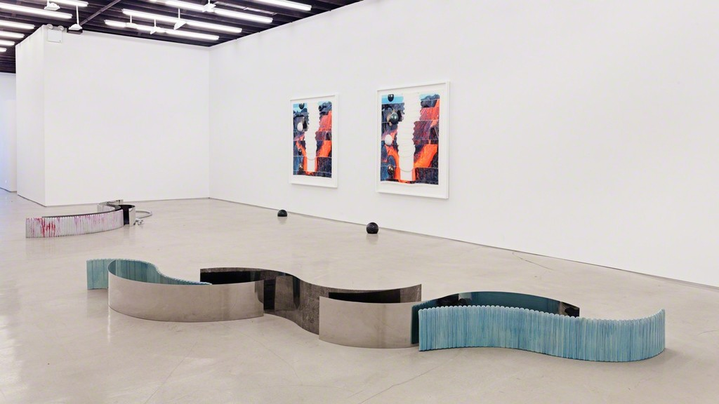 Installation view: Alice Channer, Half-life, 2015